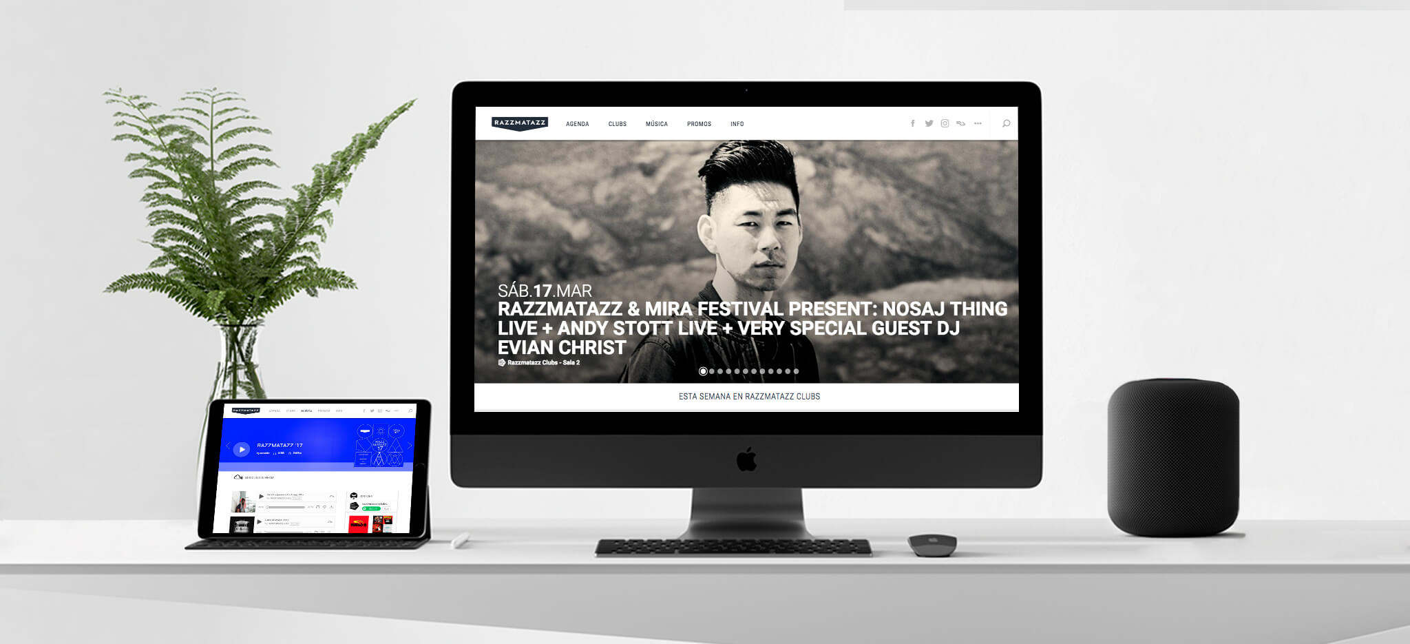 Desarrollo web Sala Razzmatazz